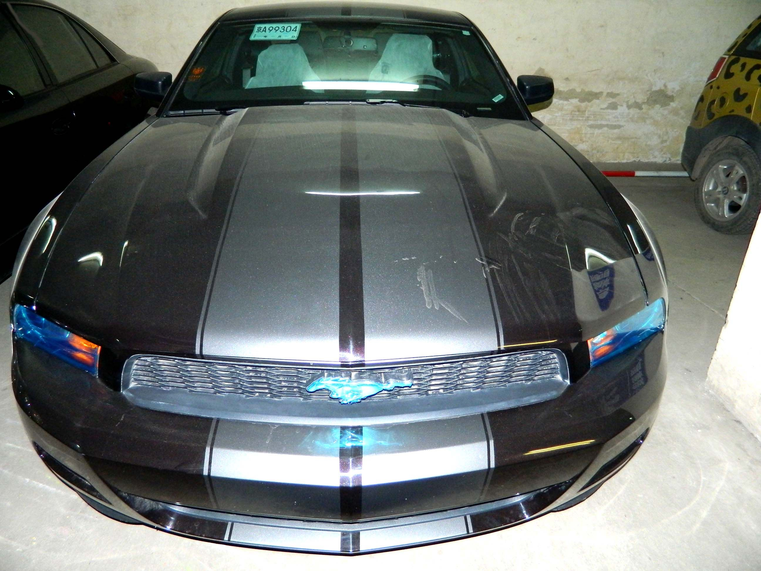 大连全国二手 野马 gt500 5.4 v8 跑车 黑色高清图片