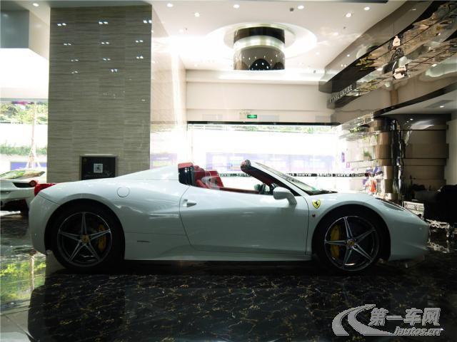法拉利458白色敞篷 御翔名车鉴赏